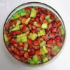 Erdbeer Ananas Bowle mit Blue Curacao