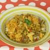 Indisches Kraut Kartoffel Erbsen-Gemüse - Aloo Bandh