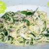 Zucchini Spaghetti alla Carbonara mit Räuchertofu von Attila Hildmann