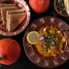 Mumbai Pav Bhaji - Indisches Gemüse Curry -Kürbis Curry Variante