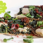 Bärlauch Pizza - vegetarisch
