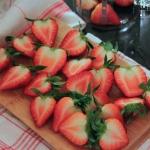 Erdbeer Schoko Eis - vegetarisch