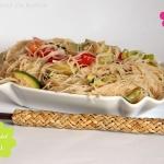 Reisnudel Salat mit Zucchini & Paprika asiatisch