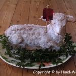 Osterlamm mit Marzipan - vegetarisch