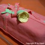 Packerl Torte lang mit Rose - Vegetarisch