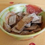 Knäckebrot-Snacks - vegetarisch