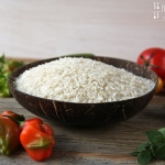 Zucchini Paprika Champignon Wok mit Reis