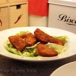 Panierte Kürbis Schnitzel auf Blatt-Salat - vegetarisch