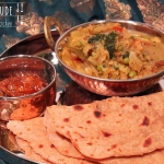 Indisches Chinakohl Erbsen Gemüse
