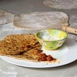 Aloo Paratha - Indisches Fladenbrot mit Kartoffel Füllung