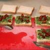 Bärlauch-Pesto Zucchini-Sandwiches - vegetarisch