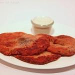 Parasol Schnitzel mit veganer Panier und Sauce Tartar