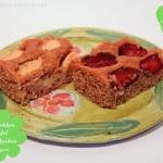 Obst Blechkuchen mit Zwetschgen und Äpfel