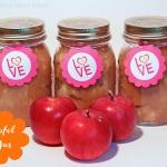Apfelmus mit Rumtopf und Knuspermüsli