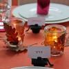 Herbstliche Tischdeko zur Sponsionsfeier