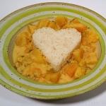 Schnelles thailändisches rotes Kürbis-Curry