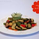 Ofengemüse mit Bärlauch Cashew Sauce