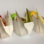 Origami Osterhasen Nest - DIY - selbermachen