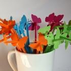Schmetterling Strohhalme selbstgemacht - DIY