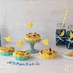 Mitzias Babyshower: Kohlsprossen Quiche & blauer Tee