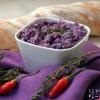 Lila Kartoffelaufstrich - Erdäpfelkas