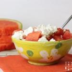 Wassermelonen Feta Salat - vegetarisch