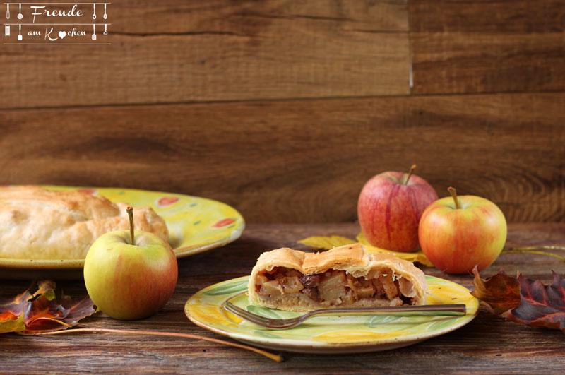 Apfelstrudel mit Blätterteig - Rezept vegan - Freude am Kochen