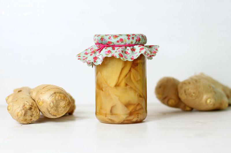 Eingelegter Ingwer - Freude am Kochen vegan