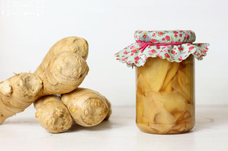 Eingelegter Ingwer mit Reisessig - Freude am Kochen vegan