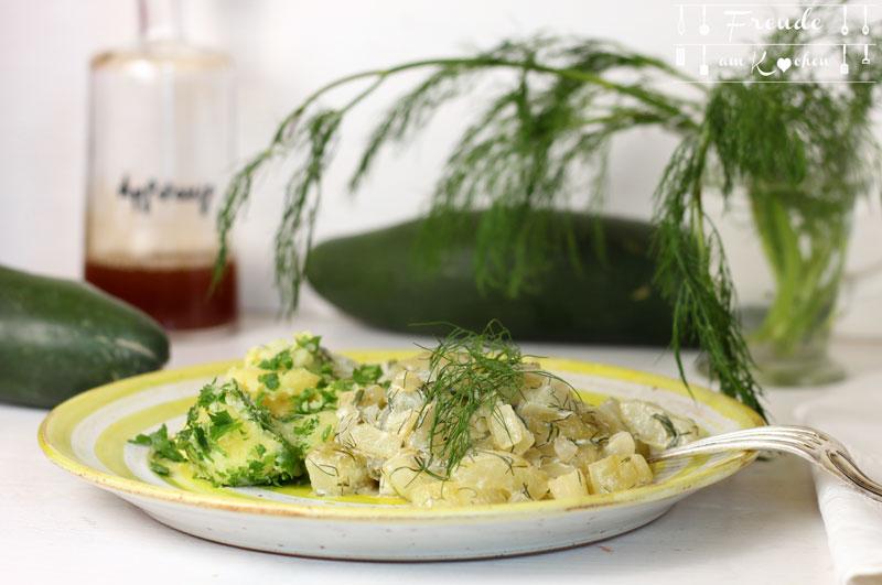 Steirisches Gurkengemüse vegan - Freude am Kochen