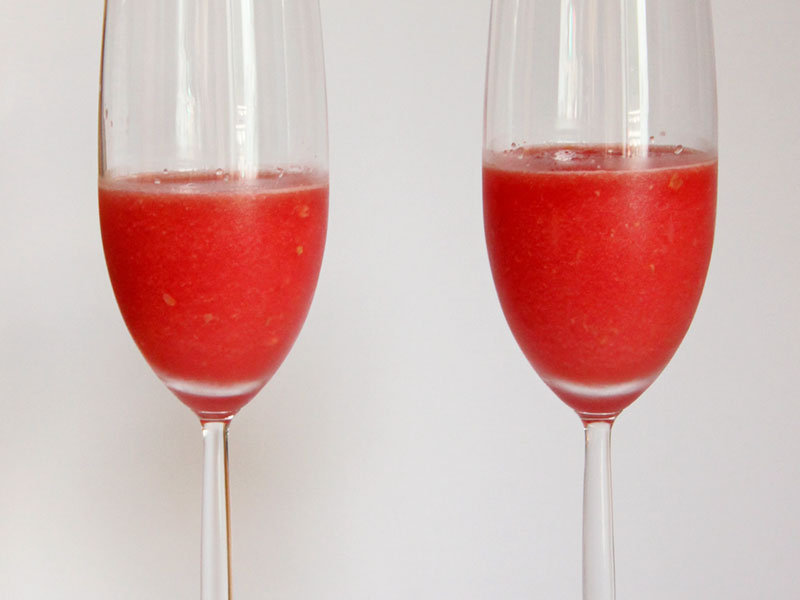 Eisiger Wassermelonen Cocktail - Freude am Kochen vegan