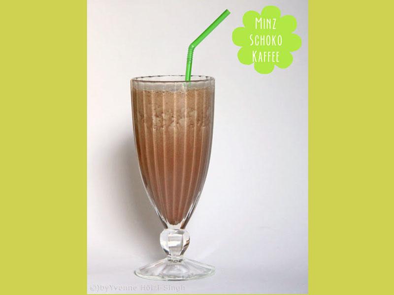 Eisiger Minz Schoko Kaffee Shake - Freude am Kochen vegan