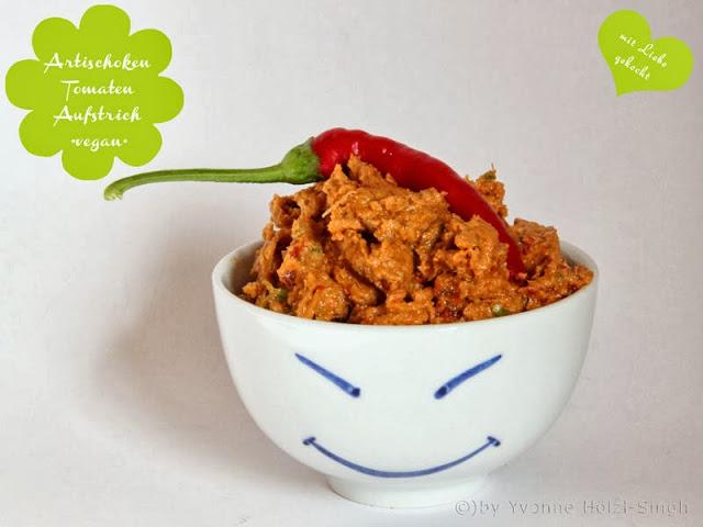 Artischocken Tomaten Sonnenblumen Aufstrich - Freude am Kochen vegan