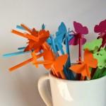 Schmetterling Strohhalme selbstgemacht – DIY