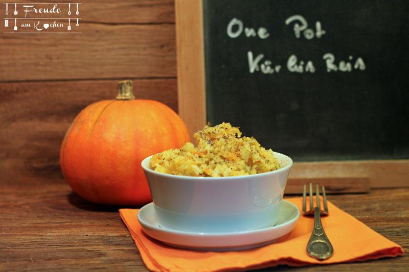 One Pot Kürbis Reis - Rezept vegan - Freude am Kochen