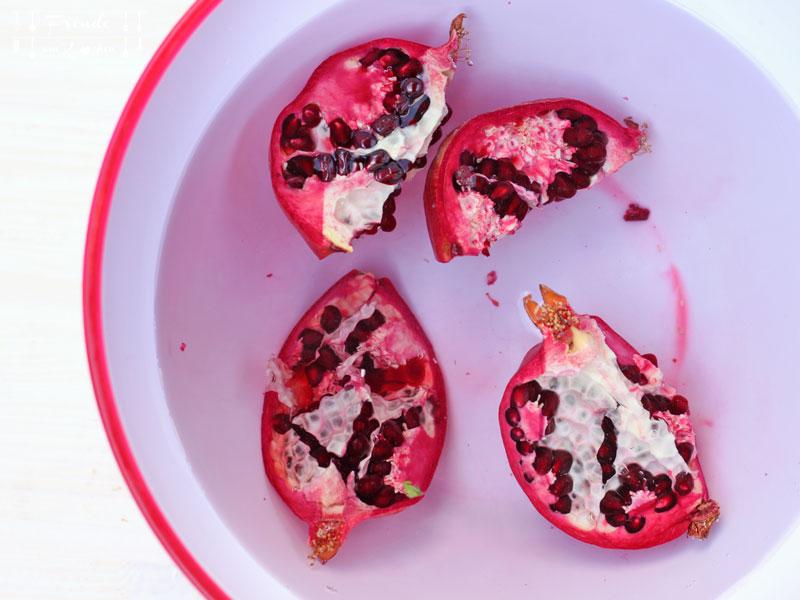 Wie entkerne ich einen Granatapfel richtig - Freude am Kochen