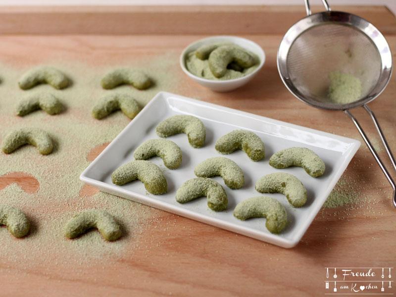 Matcha Kipferl vegan - Freude am Kochen