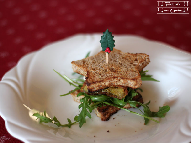 Weihnachts Stern Burger vegan - Freude am Kochen