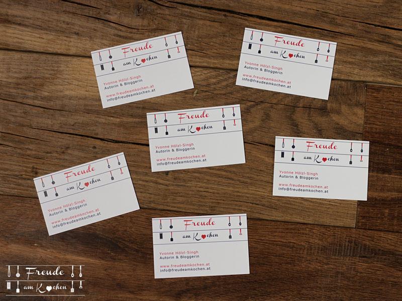 Die neuen Freude am Kochen Visitenkarten - Digitaldruck Köln