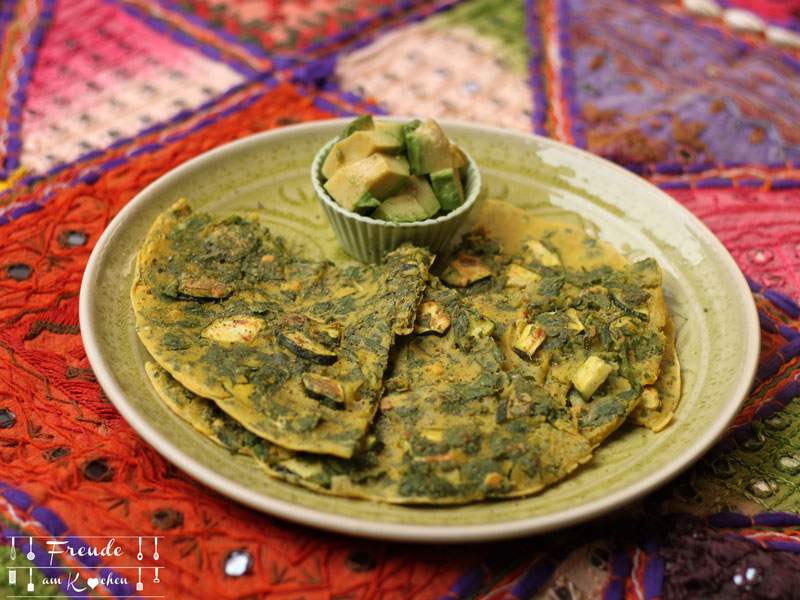 Zucchini Kichererbsen Omelett vegan - Freude am Kochen