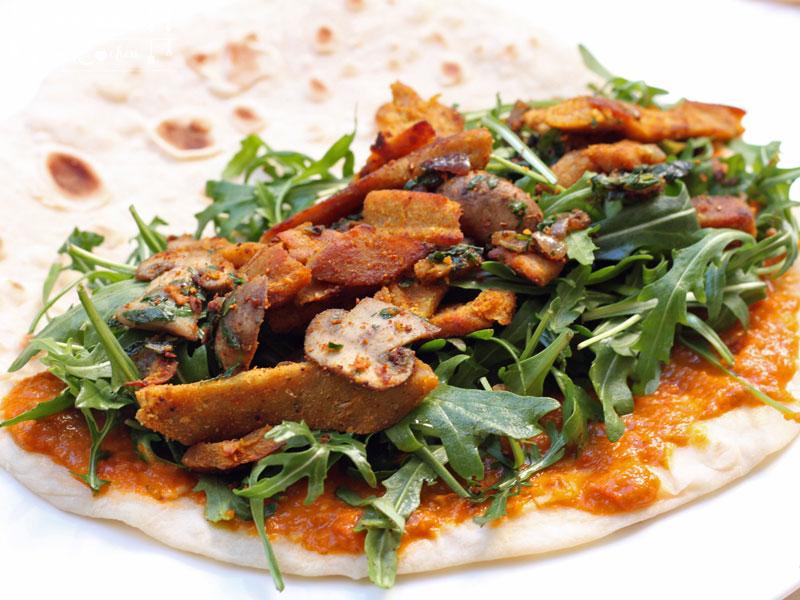 Wrap Teig selbermachen - Wraps mit Lupinen & Champignons - vegan - Freude am Kochen