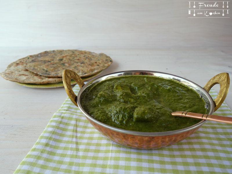 Palak Paneer mal anders mit Bärlauch & Kartoffel vegan - Freude am Kochen