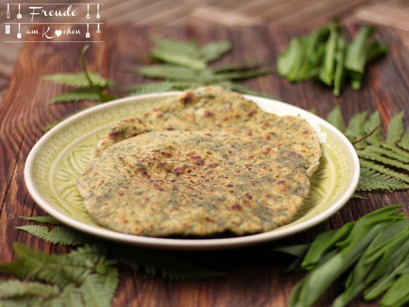 Spinat oder Bärlauch Paratha - Freude am Kochen