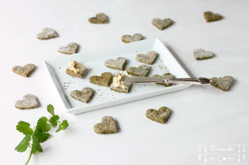 Brennnessel Cracker - vegan - Freude am Kochen