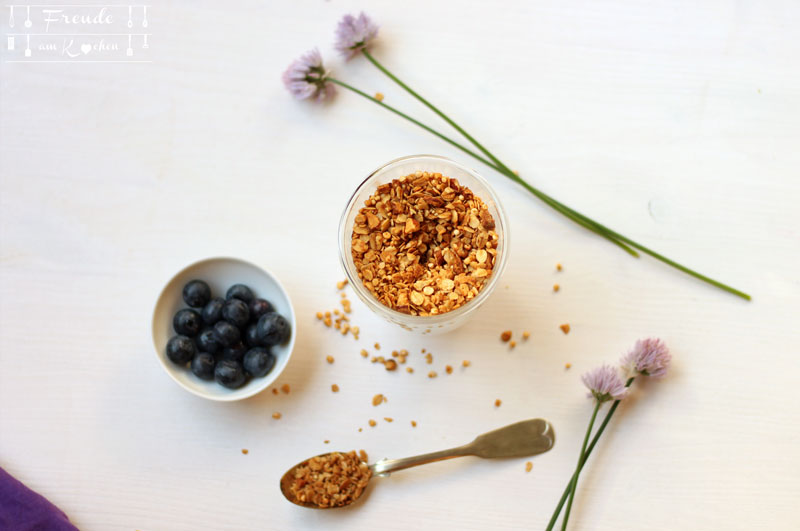 Granola Knuspermüsli selbermachen - Rezept - Freude am Kochen - Cashew Joghurt roh