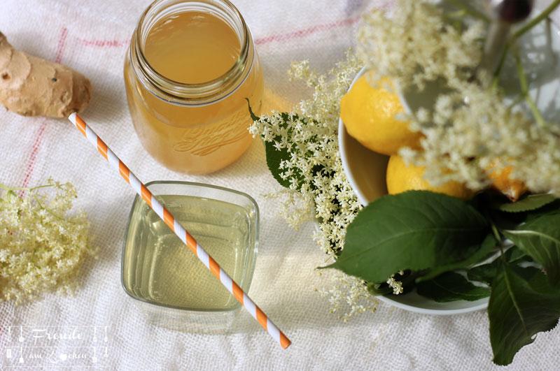Holunderblüten Switchel Rezept - eine Abwandlung vom klassischen Switchel - Freude am Kochen