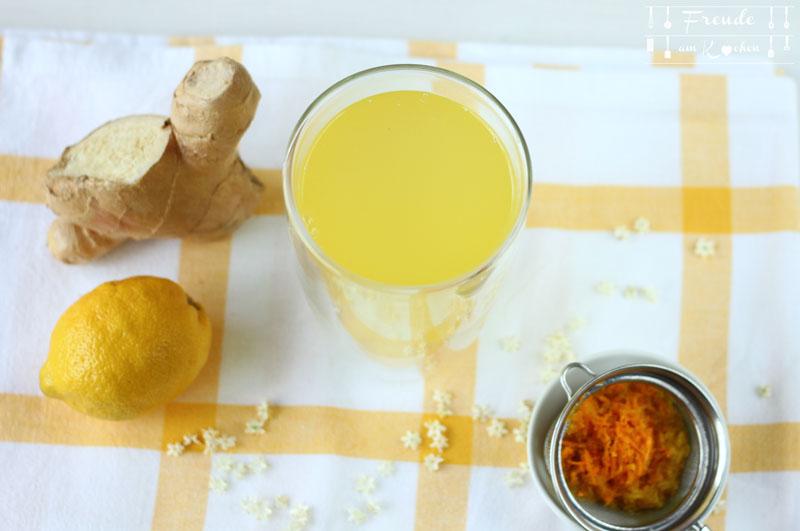 Kurkuma & Ingwer Switchel - Energydrink aus dem 19. Jahrhundert - Rezept vegan - Freude am Kochen