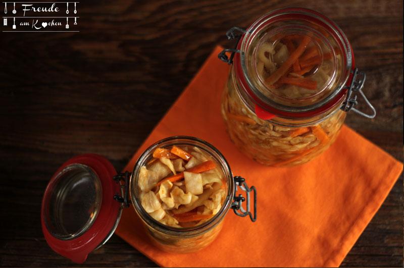 Weißkraut Karotten Kimchi Rezept vegan - Freude am Kochen