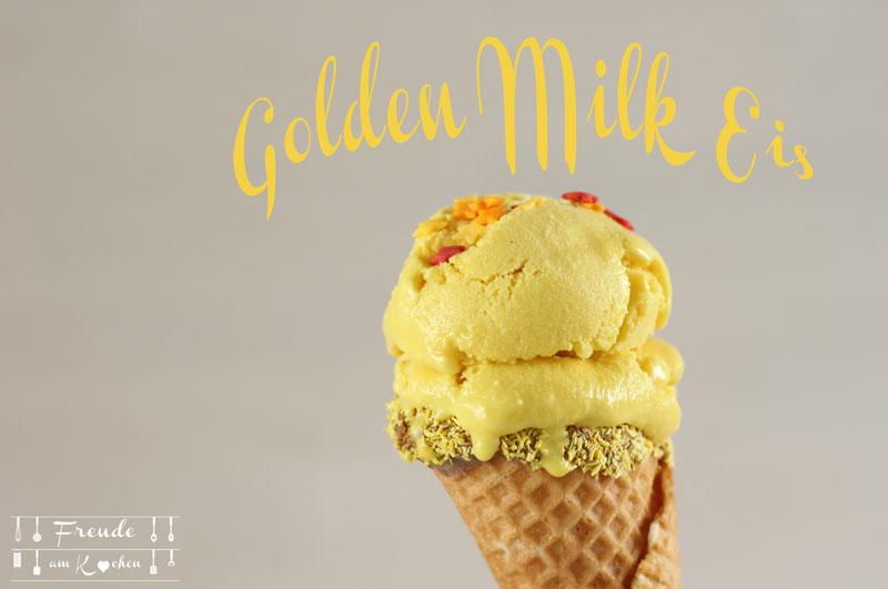 Golden Milk Kurkuma Eis - #Synchroneis - Rezept vegan - Freude am Kochen