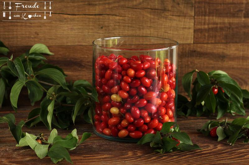 Aus der Kornelkirsche - falsche Oliven - Dirndl Oliven - Freude am Kochen - Rezept vegan